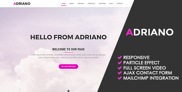 Adriano | Creative Multipurpose Template