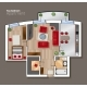 Vector Top View Floor Plan of the House Room