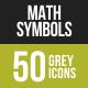Math Symbols Greyscale Icons