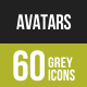 Avatars Greyscale Icons