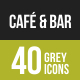 Cafe & Bar Greyscale Icons