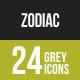 Zodiac Greyscale Icons