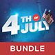 4th of July Flyer Bundle (4 in 1)