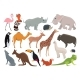 Wild Animals in Cartoon Style. Vector