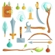 Vector Set of Fantasy Magic Weapons. Illustrations