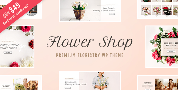 Flower Shop – Florist Boutique &amp Decoration Shop WordPress Theme (WooCommerce)