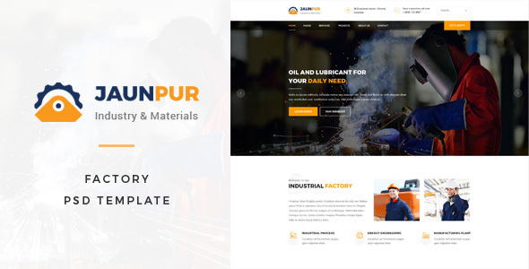 Janpur : Factory PSD Template