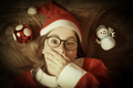 Girl in  Christmas dress