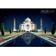 The Taj Mahal. White Marble Mausoleum on the South