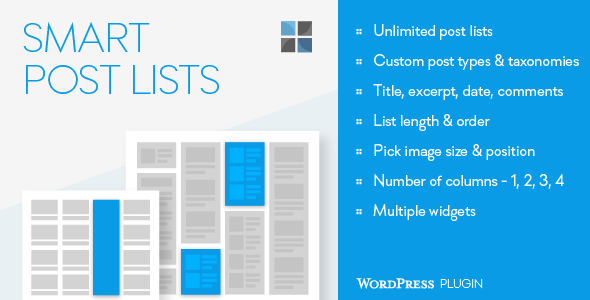Smart Post Lists Widget for WordPress - CodeCanyon Item for Sale