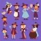 Witch Hag Harridan Vixen with Broom