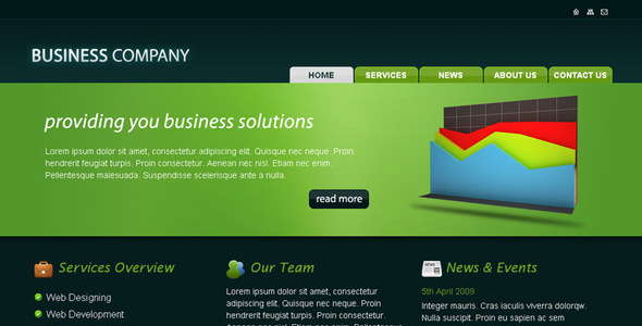 ThemeForest Business Company HTML Template 46592