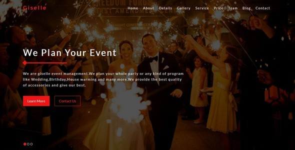Download Giselle-Event Management    Multipurpose Bootstrap Template