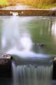 Long exposure of water stream and rocks