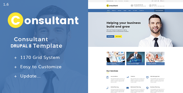 Consultant - Multipurpose Corporate Drupal 8 Template
