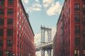 Manhattan Bridge seen from Dumbo, New York City, USA.