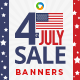 Fourth of July Banners - Images Included