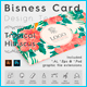 Tropical Hibiscus Business Card Design Template