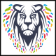 Colorful Lion Logo