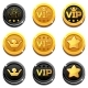 Cartoon Vip and Crown Coins