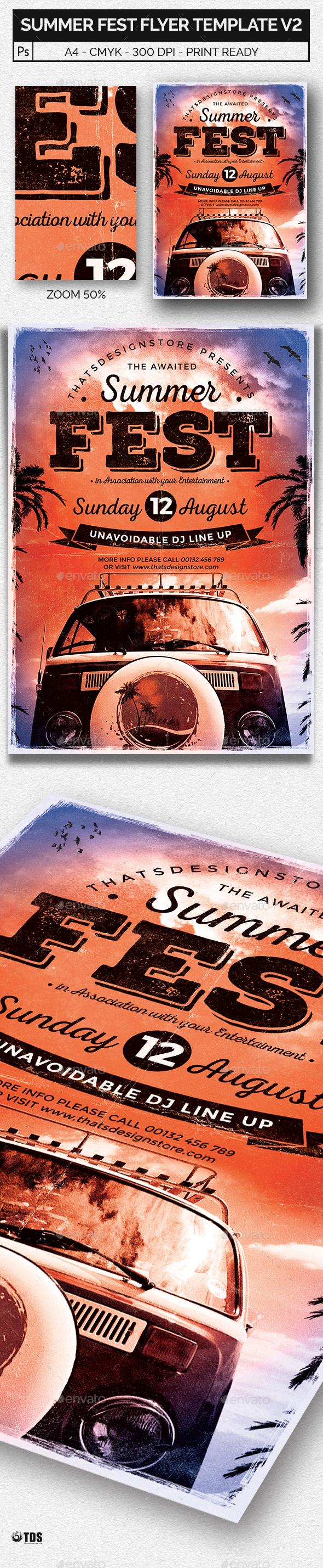 Summer Fest Flyer Template V2
