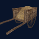 Medieval Wooden Cart Lowpoly Model