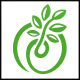 Green Plant Grow Logo
