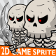 Skeleton Game 2D Character Sprite