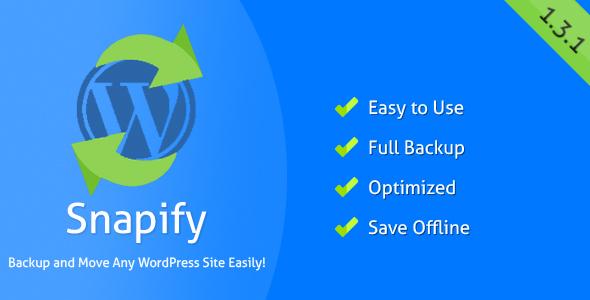 Snapify - Backup and Move WordPress Easily - CodeCanyon Item for Sale