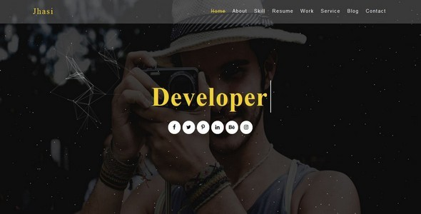 Jhasi-One Page Portfolio Template ( Single Blog Page Included )