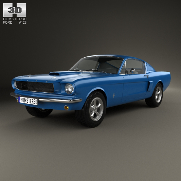 3DOcean Ford Mustang Fastback 1965 20214971