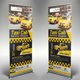 Taxi Cab Roll-Up Banner