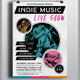 Indie Music Live Show Flyer