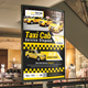 Taxi Cab Poster Template