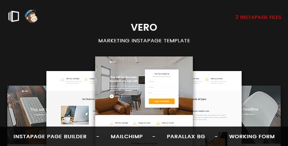 Vero - Marketing Instapage Template