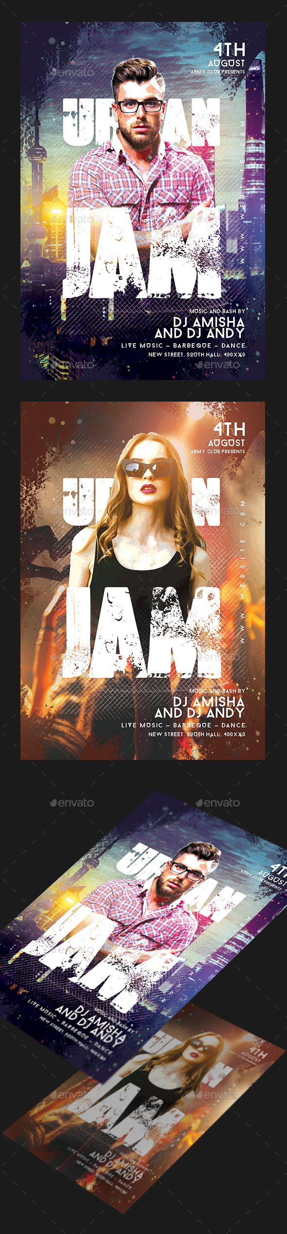 Urban Jam Party Flyer