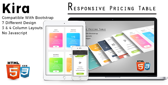 Download Kira - Responsive Pricing Tables