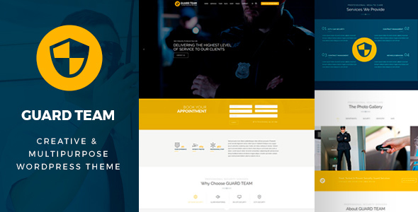 Download Guard Team - Security WordPress Theme