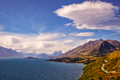 Mountain range and lake view from Bennetts Bluff, New Zealand