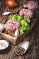 fresh raw minced meat beef