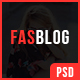 FasBlog - Blog PSD Template