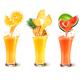 Set Of Fuit Juice Splash In A Glass.
