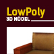 Lowpoly 3D sofa and tv model