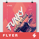 Funky House Music Party Flyer / Poster Template A3