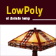 Lowpoly 3D el-dorado lamp model