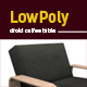3D lowpoly luxury chair model
