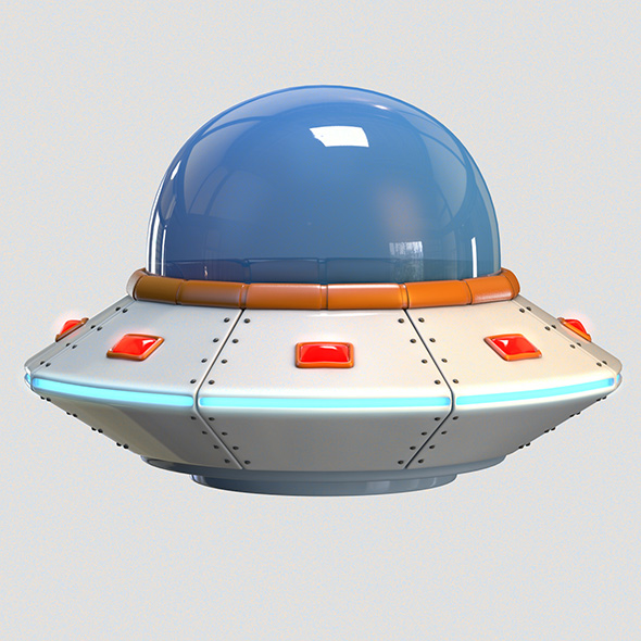 3DOcean Low Poly Cartoon UFO 20222794