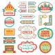 Circus Vintage Signboard Labels Banner Vector