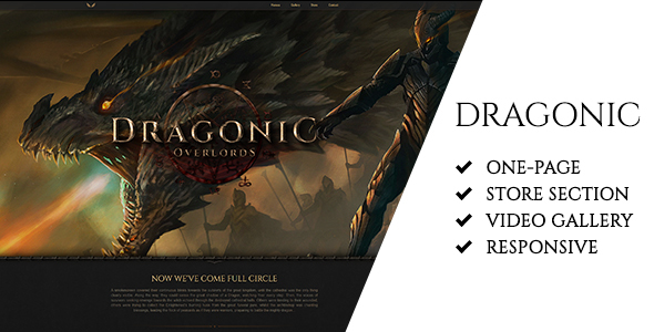 Dragonic: The Ultimate One-Page Premium Gaming Template (Technology) images