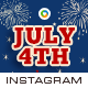Fourth of July Instagram Templates - 10 Designs